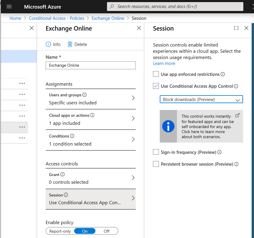 Conditional Access App Control